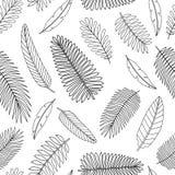 Modelo inconsútil de las hojas tropicales del vector ilustración del vector
