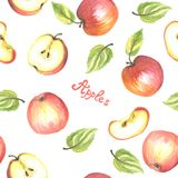 Modelo inconsútil de las manzanas stock de ilustración