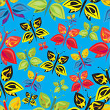 Modelo inconsútil de las mariposas coloridas Fotos de archivo libres de regalías