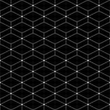 modelo inconsútil de las materias textiles de rhombuses Enrejado inusual Fondo geométrico stock de ilustración