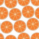 Modelo inconsútil de las naranjas Ilustración del vector Fotos de archivo