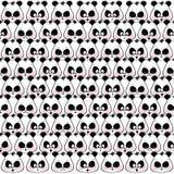 Modelo inconsútil de las pandas divertidas de los bozales Imagen de archivo libre de regalías