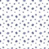 Modelo inconsútil de las pequeñas flores de la lila en el fondo blanco Pratense del geranio libre illustration