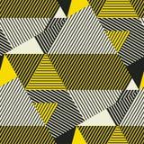 Modelo inconsútil de las rayas geométricas complejas stock de ilustración