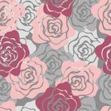 Modelo inconsútil de las rosas Foto de archivo libre de regalías