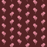 Modelo inconsútil de las rosas ilustración del vector