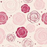 Modelo inconsútil de las rosas Fotografía de archivo