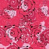 Modelo incons?til de las rosas abstractas de las flores Para los fondos del dise?o, papeles pintados, cubiertas, telas stock de ilustración