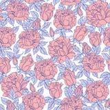 Modelo inconsútil de las rosas del vector Fotografía de archivo