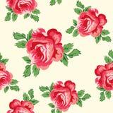 Modelo inconsútil de las rosas del vintage Imagen de archivo
