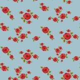 Modelo inconsútil de las rosas rojas Imagen de archivo libre de regalías