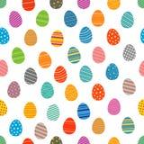 Modelo inconsútil de las siluetas de los huevos de Pascua Fotos de archivo