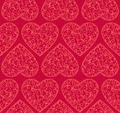 Modelo inconsútil de las tarjetas del día de San Valentín Fotografía de archivo libre de regalías