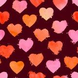 Modelo inconsútil de las tarjetas del día de San Valentín stock de ilustración