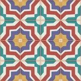 Modelo inconsútil de las tejas marroquíes coloridas, ornamentos stock de ilustración