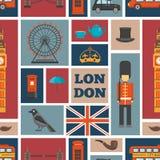 Modelo inconsútil de Londres ilustración del vector