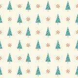 Modelo inconsútil de los árboles de navidad Fotografía de archivo libre de regalías
