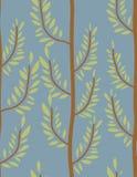 Modelo inconsútil de los árboles Textura del tronco y de la hoja B natural Fotografía de archivo libre de regalías