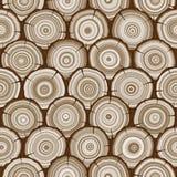 Modelo inconsútil de los anillos de árbol stock de ilustración
