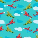 Modelo inconsútil de los aviones en vuelo Imágenes de archivo libres de regalías