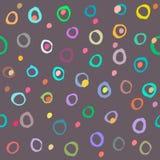 Modelo inconsútil de los círculos coloreados Fotografía de archivo libre de regalías