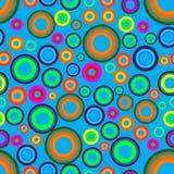 Modelo inconsútil de los círculos coloreados Foto de archivo
