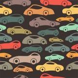 Modelo inconsútil de los coches de competición del vintage del vector Imágenes de archivo libres de regalías