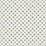Modelo inconsútil de los colores retros con los círculos repetidos Adorno de la burbuja Fondo abstracto geométrico Textura superf stock de ilustración