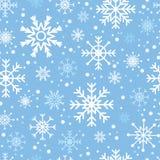 Modelo inconsútil de los copos de nieve Ilustración del Vector
