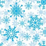 Modelo inconsútil de los copos de nieve Stock de ilustración