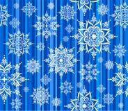Modelo inconsútil de los copos de nieve Imagen de archivo libre de regalías