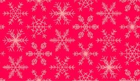 Modelo inconsútil de los copos de nieve Fotos de archivo libres de regalías