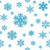 Modelo inconsútil de los copos de nieve Foto de archivo libre de regalías