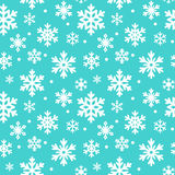 Modelo inconsútil de los copos de nieve del invierno, fondo del vector Textura repetida, superficie, papel de embalaje Nieve azul stock de ilustración