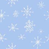 Modelo inconsútil de los copos de nieve Ilustración del vector Fotografía de archivo