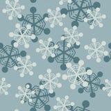 Modelo inconsútil de los copos de nieve que cae Fotografía de archivo libre de regalías