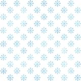 Modelo inconsútil de los copos de nieve azules de la acuarela en el fondo blanco Decoración del invierno Fotografía de archivo