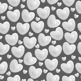 Modelo inconsútil de los corazones blancos Libre Illustration