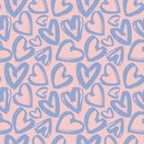 Modelo inconsútil de los corazones de la lila Imagenes de archivo