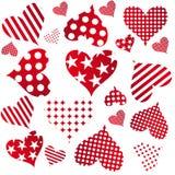 Modelo inconsútil de los corazones de la tarjeta del día de San Valentín Imágenes de archivo libres de regalías
