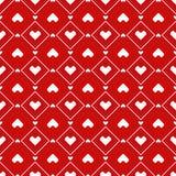 Modelo inconsútil de los corazones del pixel Fotografía de archivo