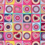 Modelo inconsútil de los corazones Ilustración del vector Imagenes de archivo