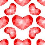 Modelo inconsútil de los corazones rojos Foto de archivo