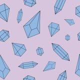 Modelo inconsútil de los diamantes Imágenes de archivo libres de regalías