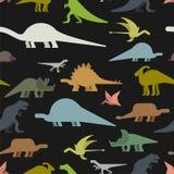 Modelo inconsútil de los dinosaurios Textura de Dino Li prehistórico del monstruo libre illustration