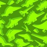 Modelo inconsútil de los dinosaurios Textura de Dino Li prehistórico del monstruo ilustración del vector