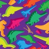 Modelo inconsútil de los dinosaurios Textura de Dino Li prehistórico del monstruo stock de ilustración