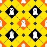Modelo inconsútil de los fantasmas lindos de Halloween Imágenes de archivo libres de regalías