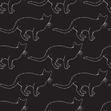 Modelo inconsútil de los gatos Imagen de archivo