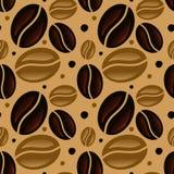 Modelo inconsútil de los granos de café Foto de archivo libre de regalías